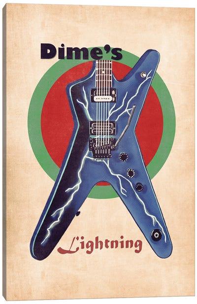 Dimebag Darrell's Retro Guitar Canvas Art Print