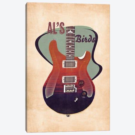 Al Di Meola's Guitar Retro Canvas Print #PCP126} by Pop Cult Posters Art Print