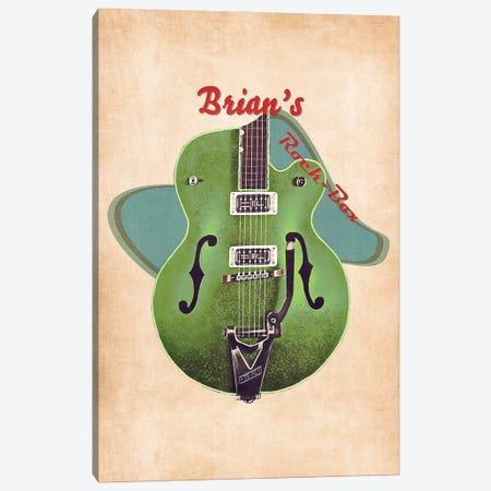 Brian Setzer's Retro Guitar Canvas Print #PCP129} by Pop Cult Posters Canvas Wall Art