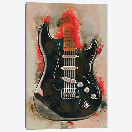 David Gilmour's Guitar Canvas Print #PCP12} by Pop Cult Posters Canvas Artwork