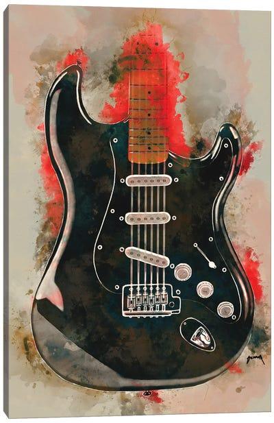 David Gilmour's Guitar Canvas Art Print