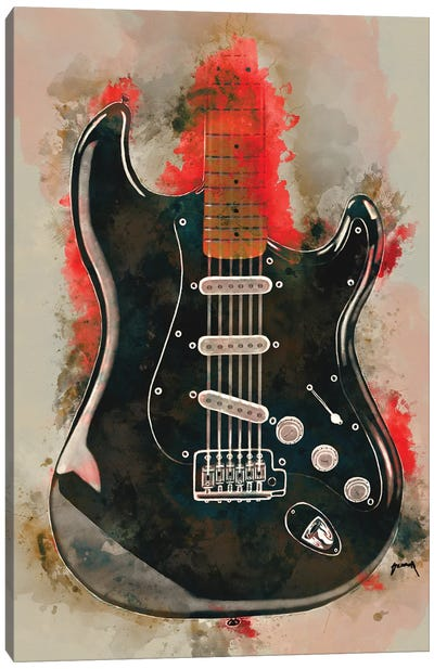 David Gilmour's Guitar Canvas Art Print