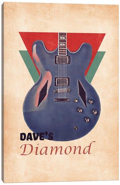 Dave Grohl's Retro Guitar Canvas Art Print