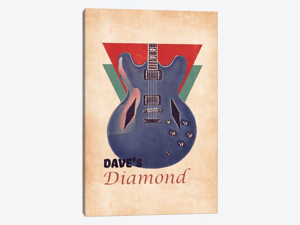 Dave Grohl's Retro Guitar by Pop Cult Posters 1-piece Canvas Print