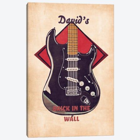 David Gilmour's Guitar Retro Canvas Print #PCP131} by Pop Cult Posters Canvas Art Print