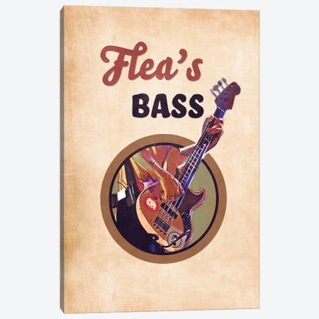 Flea's Bass Guitar Retro Canvas Print #PCP133} by Pop Cult Posters Canvas Art Print