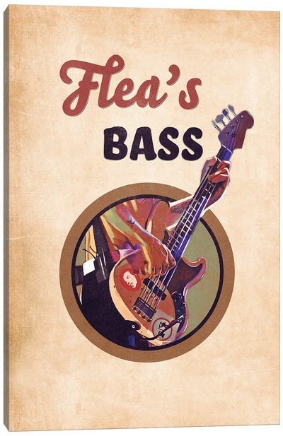 Flea's Bass Guitar Retro Canvas Art Print