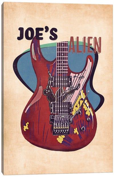 Joe Satriani's Guitar Retro Canvas Art Print