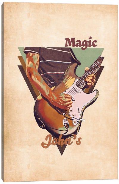 John Frusciante's Guitar Retro Canvas Art Print
