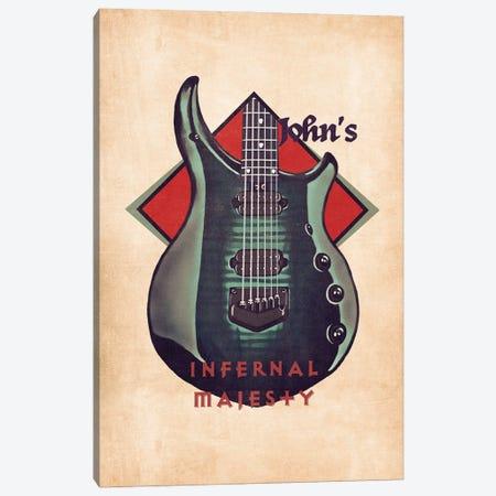 John Petrucci's Guitar Retro Canvas Print #PCP136} by Pop Cult Posters Canvas Wall Art