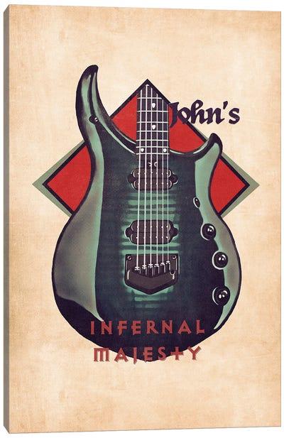John Petrucci's Guitar Retro Canvas Art Print