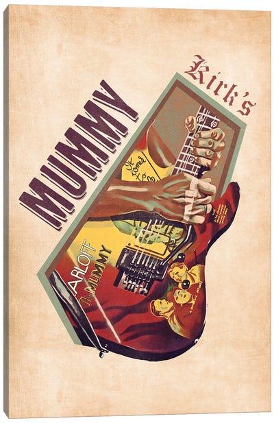 Kirk Hammett's Guitar Retro Canvas Art Print