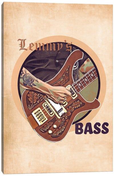 Lemmy's Bass Guitar Retro Canvas Art Print