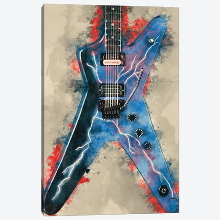 Dimebag Darrell's Electric Guitar Canvas Print #PCP13} by Pop Cult Posters Canvas Wall Art