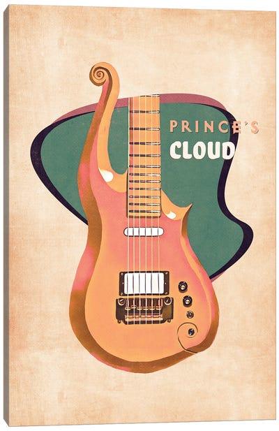 Prince's Guitar Retro Canvas Art Print