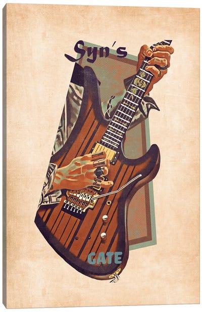 Synyster Gates's Retro Guitar Canvas Art Print