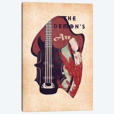 The Demon's Bass Guitar Retro Canvas Print #PCP142} by Pop Cult Posters Canvas Artwork