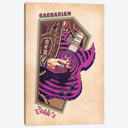 Zakk Wylde's Guitar Retro Canvas Print #PCP143} by Pop Cult Posters Canvas Artwork