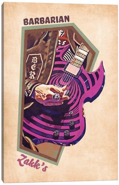 Zakk Wylde's Guitar Retro Canvas Art Print