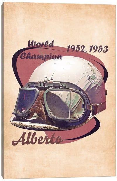 Alberto Ascari's Helmet Retro Canvas Art Print