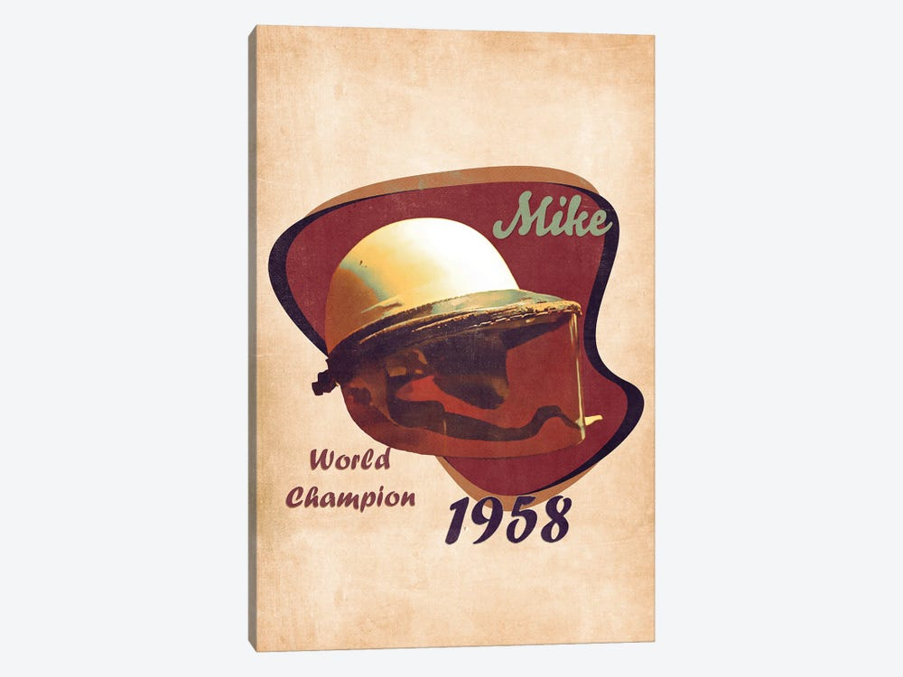 Mike Hawthorn's Helmet Retro by Pop Cult Posters 1-piece Art Print