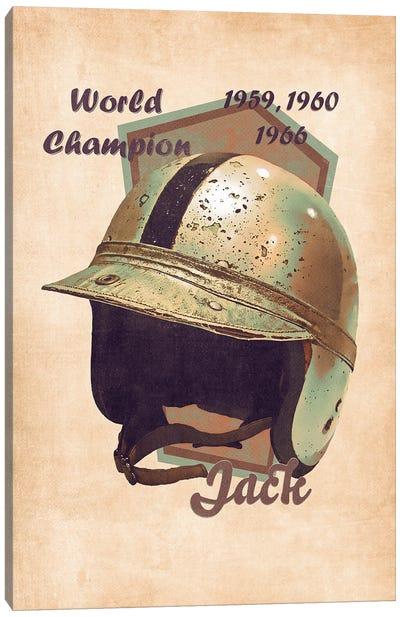 Jack Brabham's Helmet Retro Canvas Art Print