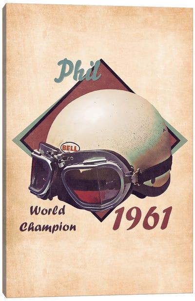 Phil Hill's Helmet Retro Canvas Art Print
