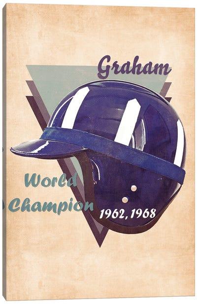 Graham Hill's Helmet Retro Canvas Art Print