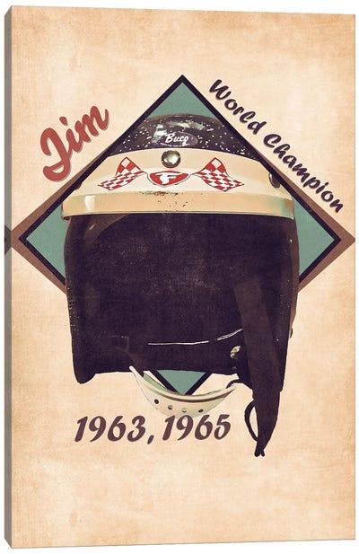 Jim Clark's Helmet Retro Canvas Art Print