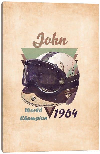 John Surtees's Helmet Retro Canvas Art Print