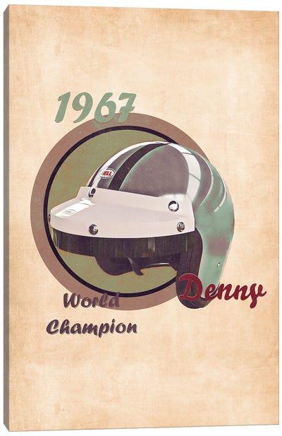 Denny Hulme's Helmet Retro Canvas Art Print