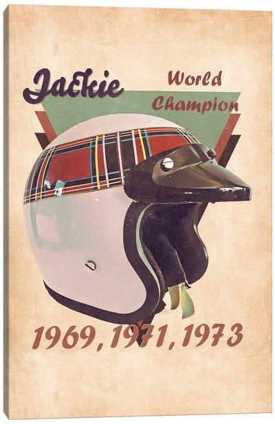 Jackie Stewart's Helmet Retro Canvas Art Print