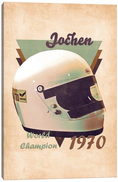 Jochen Rindt's Helmet Retro Canvas Art Print