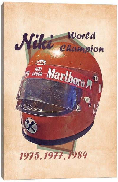 Niki Lauda's Helmet Retro Canvas Art Print