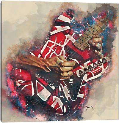 Eddie Van Halen's Electric Guitar Canvas Art Print
