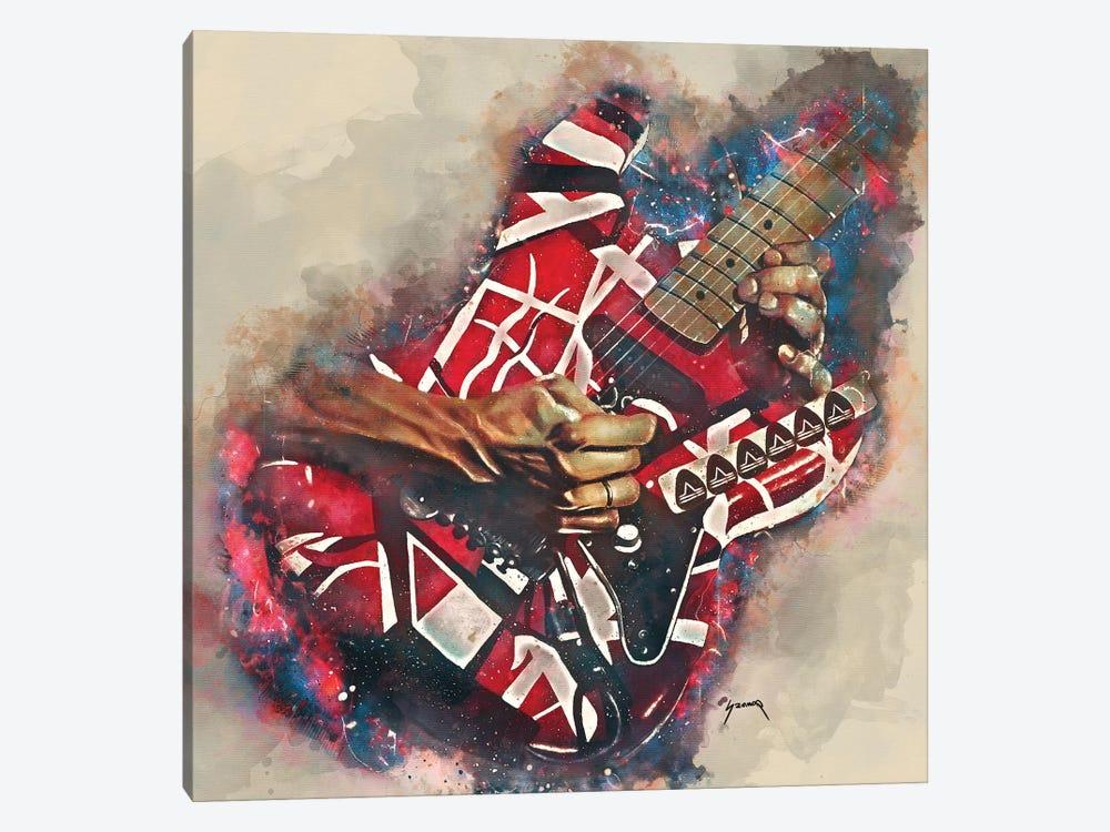 Eddie Van Halen's Electric Guitar by Pop Cult Posters 1-piece Art Print
