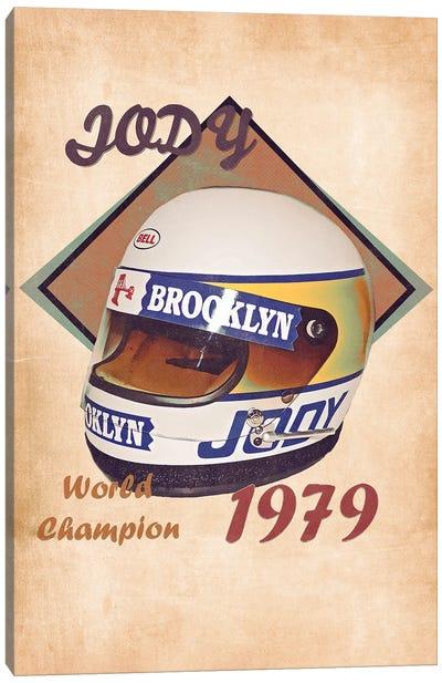 Jody Scheckter's Helmet Retro Canvas Art Print