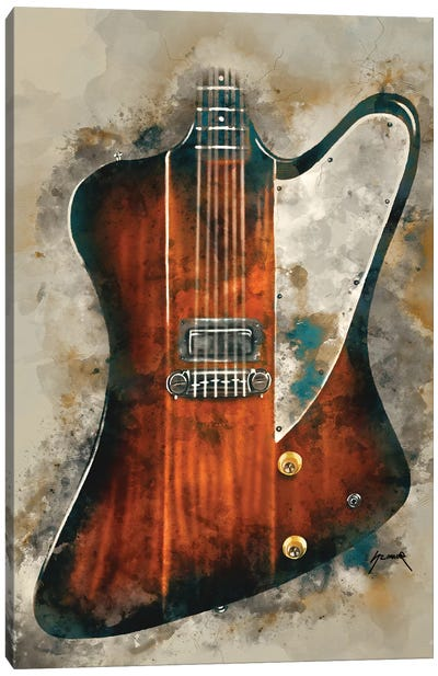 Eric Clapton's Electric Guitar Canvas Art Print