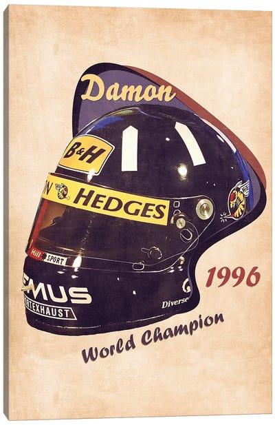 Damon Hill's Helmet Retro Canvas Art Print