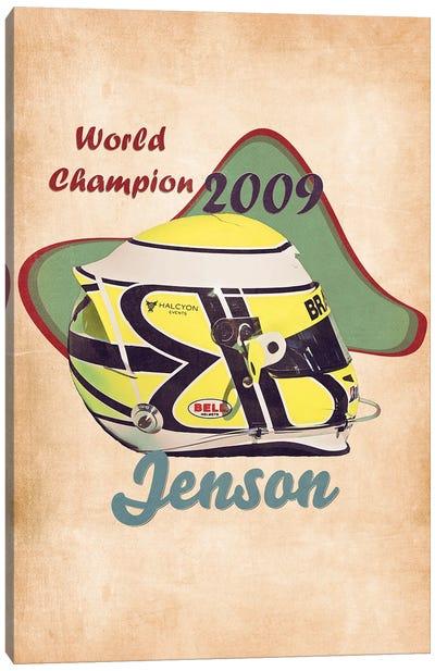 Jenson Button's Helmet Retro Canvas Art Print