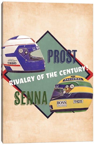 Prost Vs Senna Canvas Art Print