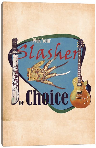 Pick Your Slasher Of Choice Canvas Art Print