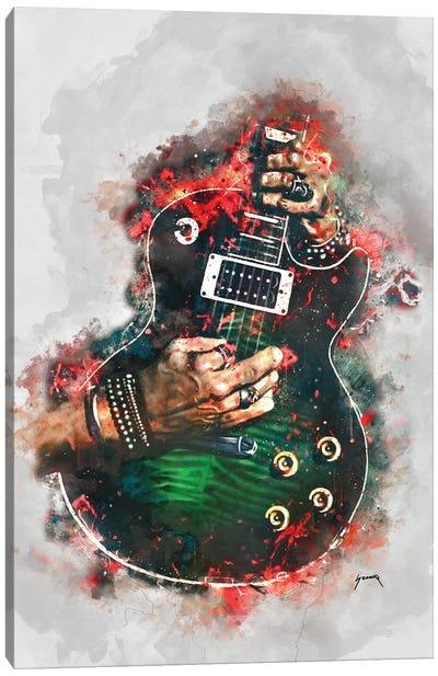 Slasher Anaconda Electric Guitar Canvas Art Print