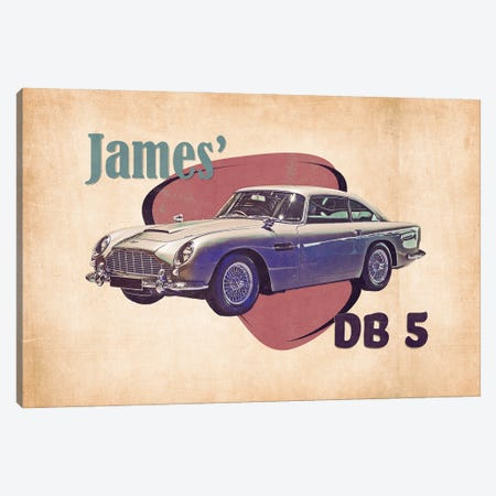James' Db 5 Canvas Print #PCP187} by Pop Cult Posters Canvas Art Print