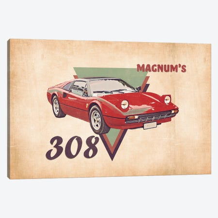 Magnum's 308 Canvas Print #PCP188} by Pop Cult Posters Canvas Art