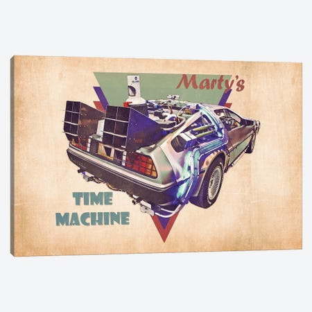 Marty's Time Machine Canvas Print #PCP189} by Pop Cult Posters Canvas Wall Art