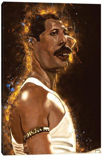Freddie Mercury's Caricature Canvas Art Print