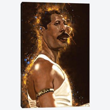 Freddie Mercury's Caricature Canvas Print #PCP18} by Pop Cult Posters Canvas Artwork