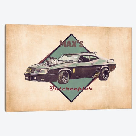 Max's Interceptor Canvas Print #PCP190} by Pop Cult Posters Canvas Art Print