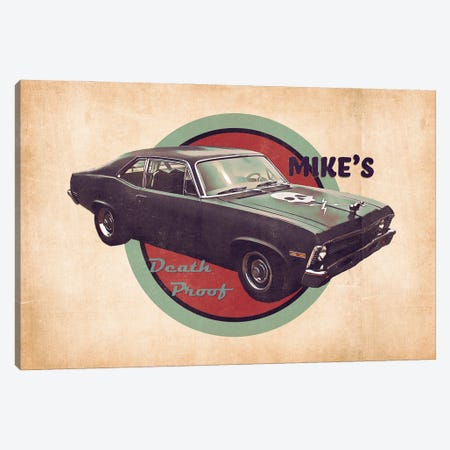 Mike's Death Proof Canvas Print #PCP191} by Pop Cult Posters Canvas Print